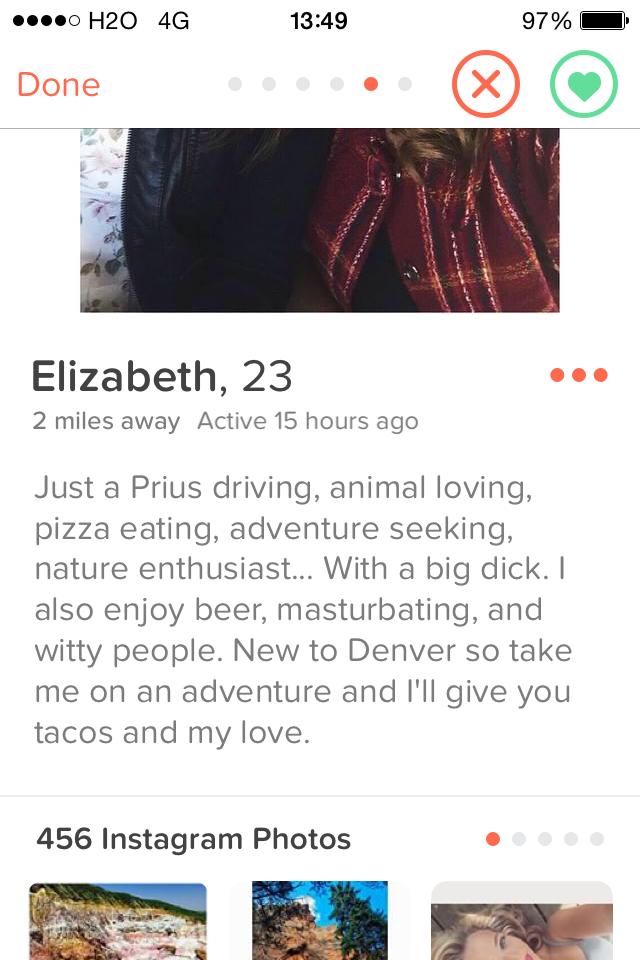 Pics tinder dick Tinder